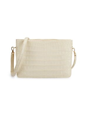 Nancy Gonzalez Crossbody Leather-Trimmed Crocodile Crossbody Bag