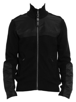 Diesel Jackets Many Zip-Up Sleeve Patch Jacket