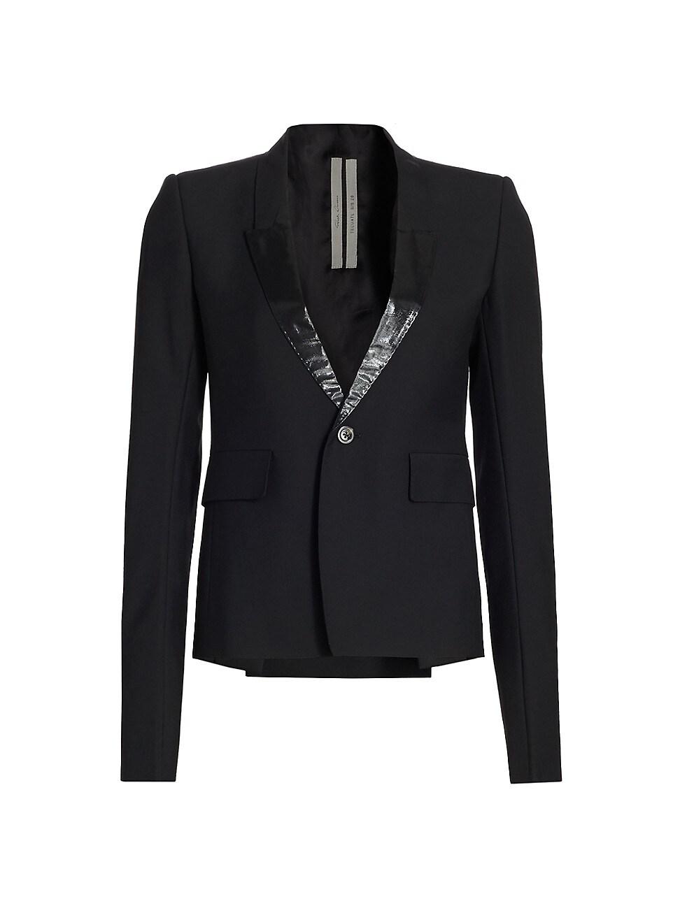 Rick Owens Women's Soft Wool-blend Blazer In Black
