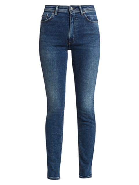 Acne Studios Faded High-Rise Slim-Leg Jeans | SaksFifthAvenue