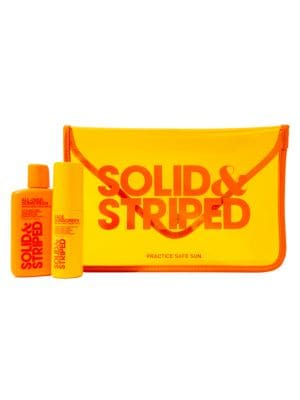 Solid Amp Striped Travel 3 Piece Sunscreen Set