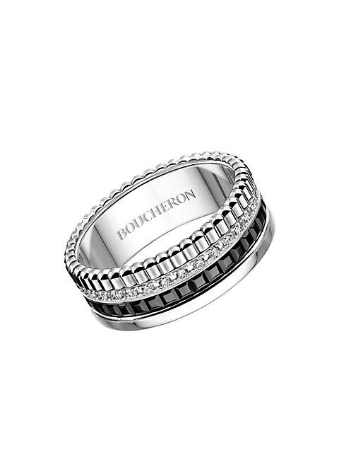 Quatre Black Edition 18K White Gold, Diamond & PVD Ring