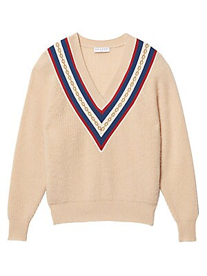 Chains V Neck Sweater by Sandro