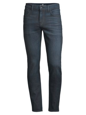 7 For All Mankind Paxtyn Coated Skinny Jeans In Troubador