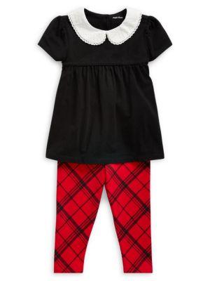 NWT Ralph Lauren Polo Baby Girls Ruffled Top /& Leggins Set 3 6 9 Months