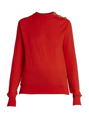 Givenchy Sweaters Button-Trimmed Wool & Silk Sweater