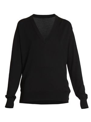 Givenchy Sweaters Button-Embellished Wool Silk Sweater