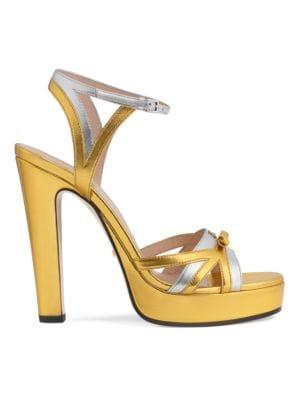 Gucci Platforms Leather Platform Sandals