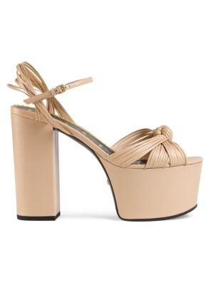 Gucci Sandals Leather Platform Sandals
