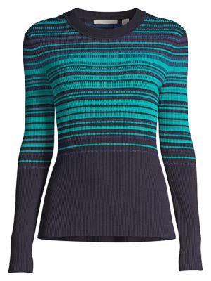 Fadeira Stretch Stripe Knit Sweater