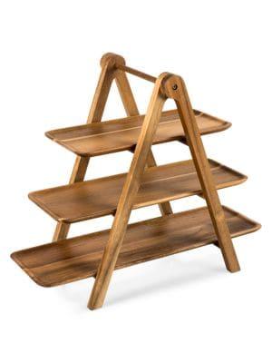 Brilliant Three Tier Wooden Serving Ladder Evergreenethics Interior Chair Design Evergreenethicsorg