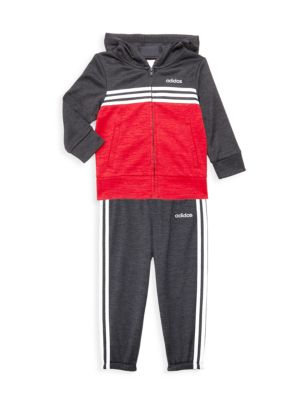 cheap price most popular top fashion Adidas - Baby Boy's Two-Piece Zip-Front Mélange Hooded ...