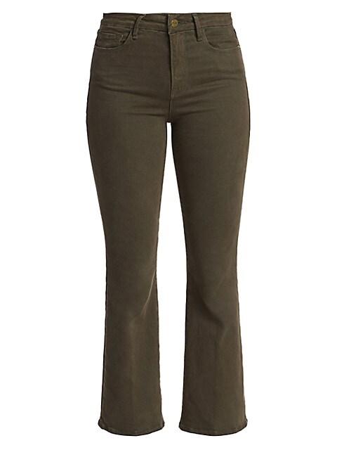 Le Crop Mid-Rise Bootcut Jeans