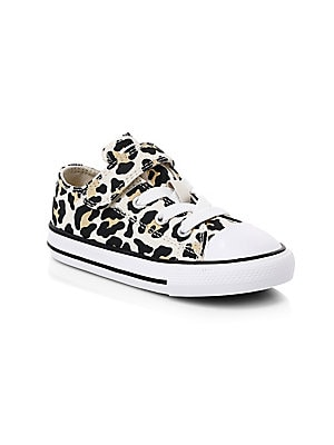 Converse Baby & Little Girl's Chuck Taylor All Star 1V Leopard Print Sneakers