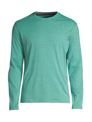 Isaia Men's Cotton Crewneck Pullover In Green