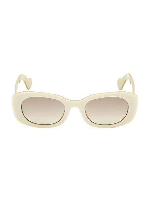 52MM Acetate Oval Bold-Frame Sunglasses
