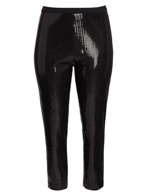 Joan Vass, Plus Size Modern-Fit Sequin Pants | SaksFifthAvenue