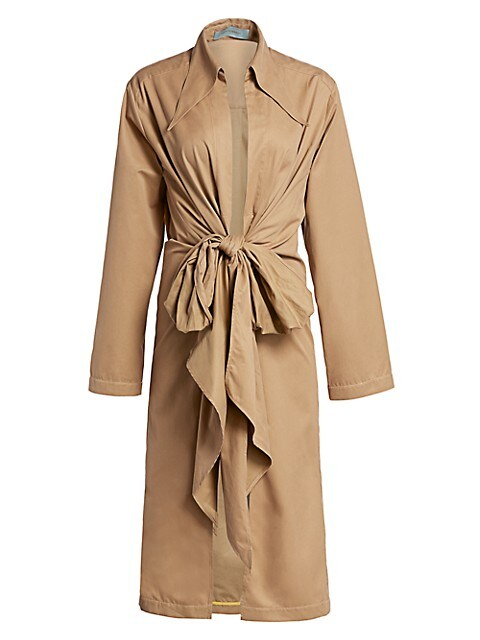 Gaia Knotted Trench Coat