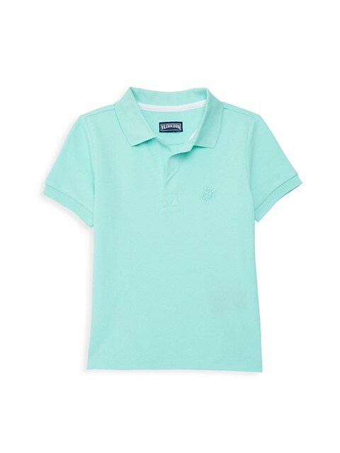 Little Boy's & Boy's Turtle Cotton Polo Shirt
