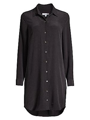 Essential Silk Shirtdress by Equipment