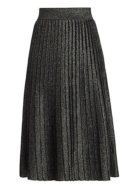Nevada Lurex Knit Midi Skirt