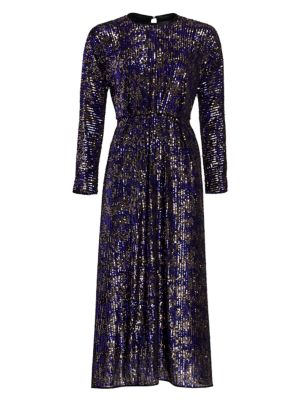Astraea Sequin Long Sleeve Dress