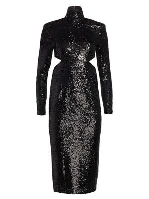 Cinq Sept Daniela Sequin Midi Dress