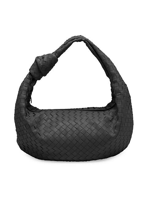 Large Jodie Leather Hobo Bag