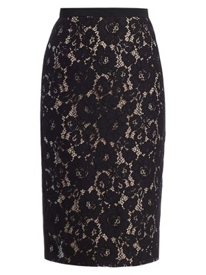 No 21 Lace Pencil Skirt