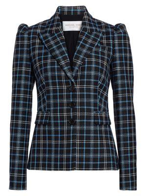 Michael Kors Blazers Puff-Shoulder Virgin Wool Blazer