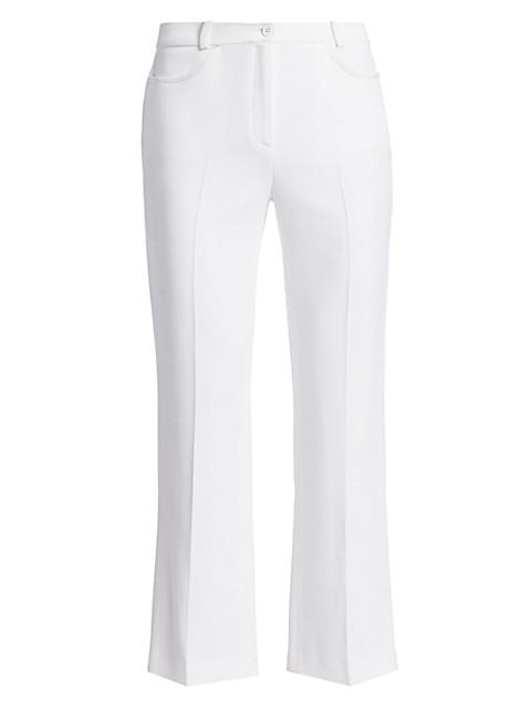 Sable Cropped Flare-Leg Pants