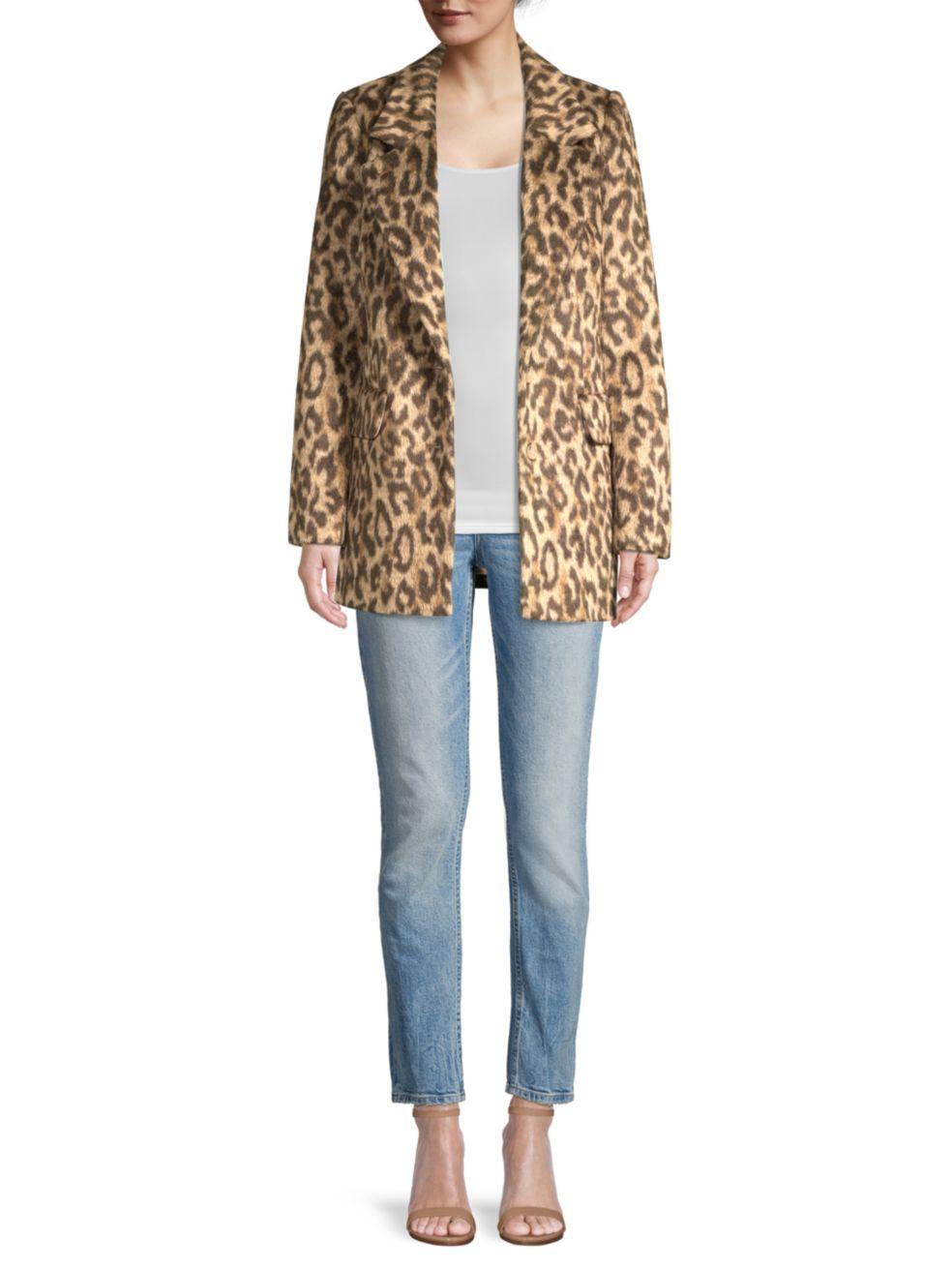 Rebecca Taylor Leopard Print Jacket   SaksFifthAvenue