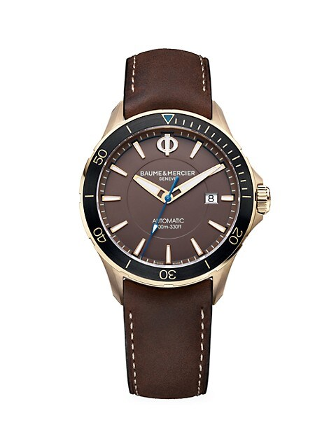 Clifton Club Bronze & Leather Strap Watch