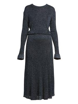 Chloé Dresses Lurex Ribbed Midi Dress