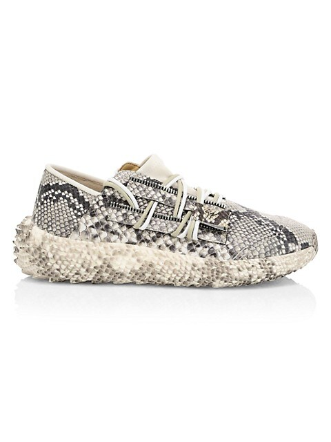 Urchin Crocodile-Embossed Leather Sneakers