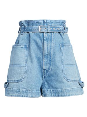 Isabel Marant Shorts Kike Belted Denim Shorts