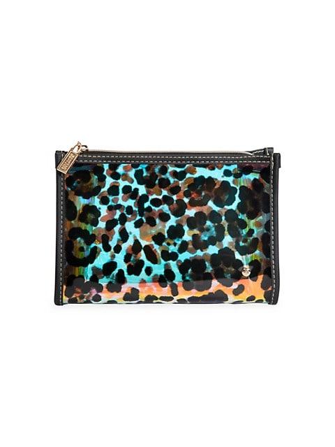 Medium Miami Cheetah Holograph Cosmetic Pouch
