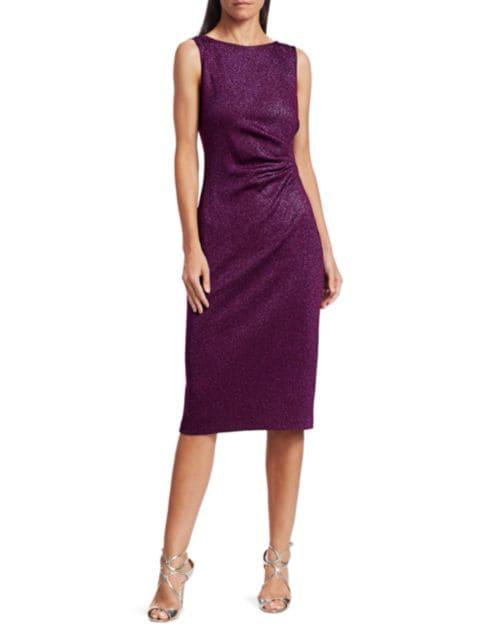 St. John Evening Milano Knit Lurex Sheath Dress   SaksFifthAvenue