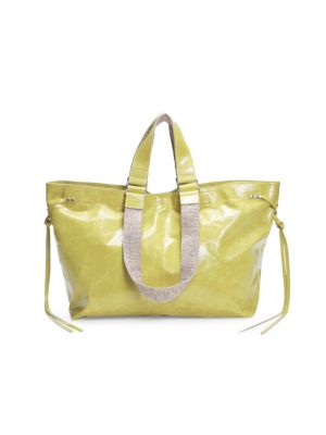 Isabel Marant Women's Wardy Leather Tote In Yellow