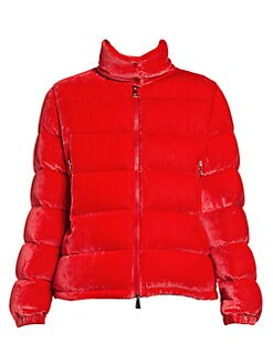 YUNY Mens Water-Resistant Chunky Zipper Puffy Jacket with Strings Red L