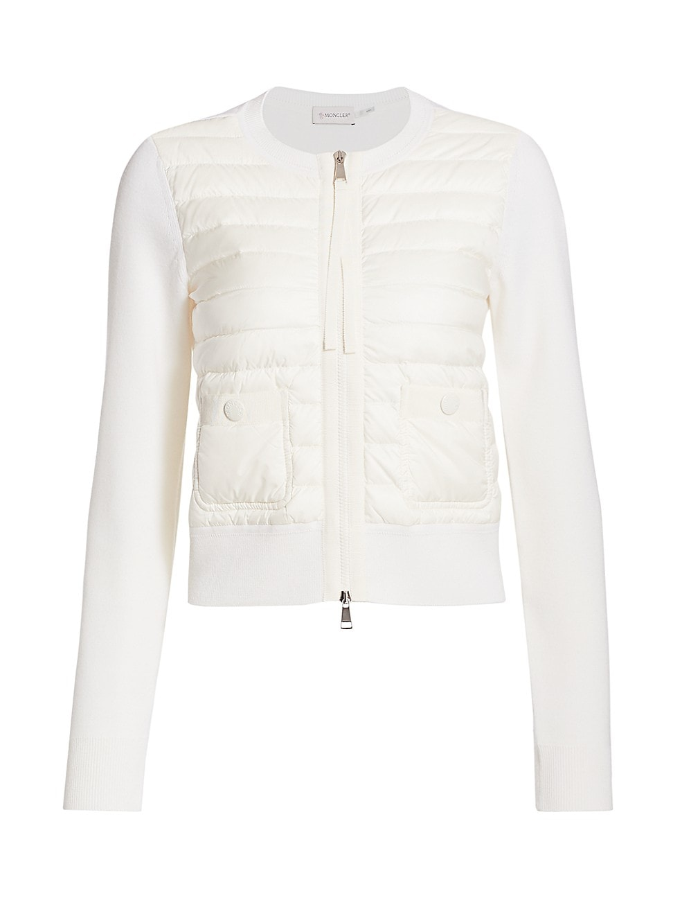 Moncler WOMEN'S KNIT & DOWN COMBO ZIP CARDIGAN
