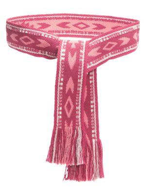 Isabel Marant Women's Ekto Printed Tie Belt In Coral