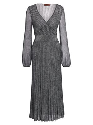 Missoni Operato Lame Faux Wrap Dress