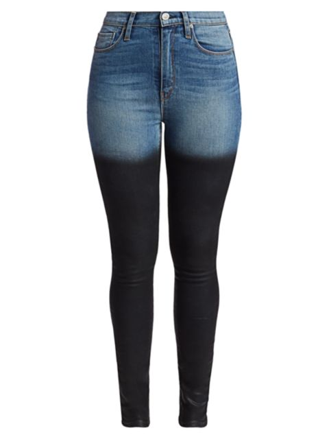 Hudson Ombre High-Rise Skinny Jeans   SaksFifthAvenue