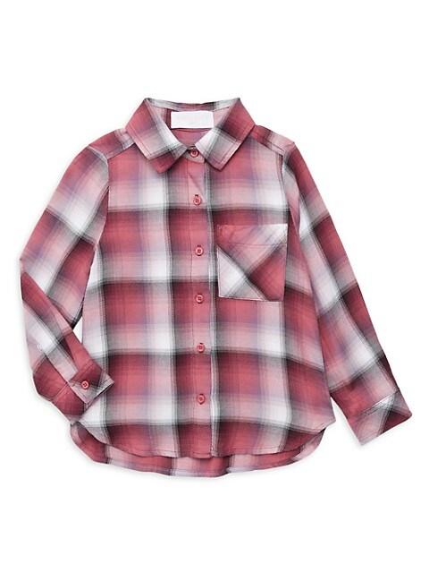 Little Girl's & Girl's Plaid Pocket Shirt