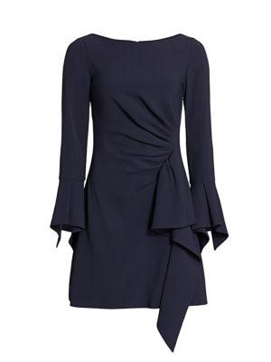 Jonathan Simkhai Crepe Ruffle Mini Dress