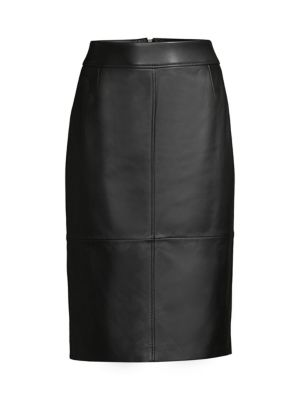 Boss Skirts Selrita1 Lamb Leather Pencil Skirt