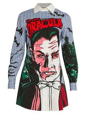 Dracula Printed Shirtdress