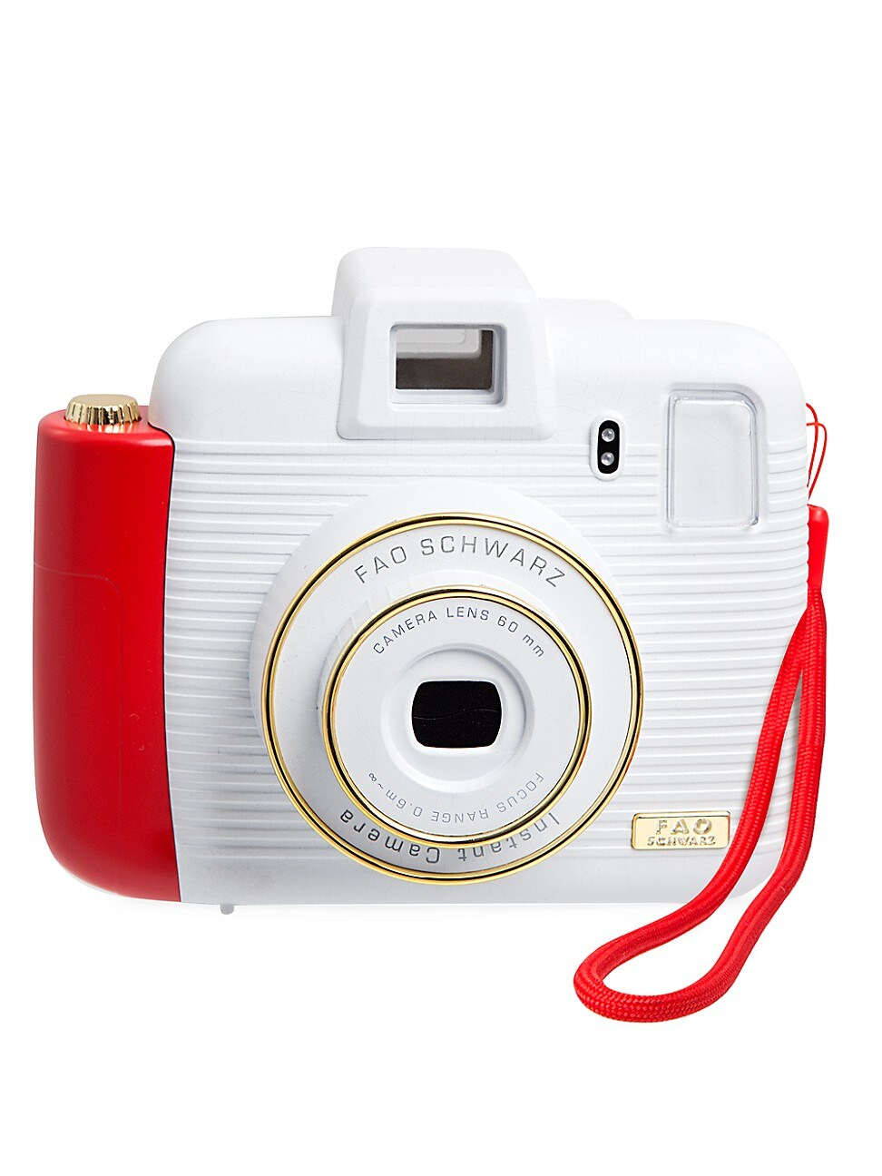 Capture memories instantly. The FAO Schwarz Instant Camera captures memories in instant photos and prints them out on the spot! It\\\'s the modern concept of vintage instant cameras - snap a photo and have a real printed keepsake in seconds! The instant camera has a built-in flash feature, as well as five different brightness settings for use in different lighting levels both outdoors and indoor. Includes instant camera and 2-AA batteries Flash and environmental lighting functions Built-in telescop