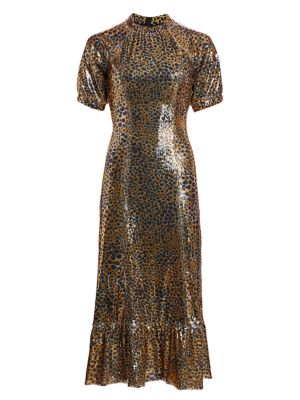 Incredible Animal Print Sequin Midi Dress Ocoug Best Dining Table And Chair Ideas Images Ocougorg
